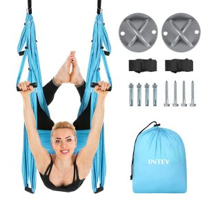 INTEY Aerial Yoga Flying Yoga Swing Yoga Hammock Trapeze Sling Inversion Tool for Gym Home Fitness
